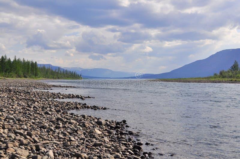 River Muksun, the Putorana plateau. stock image