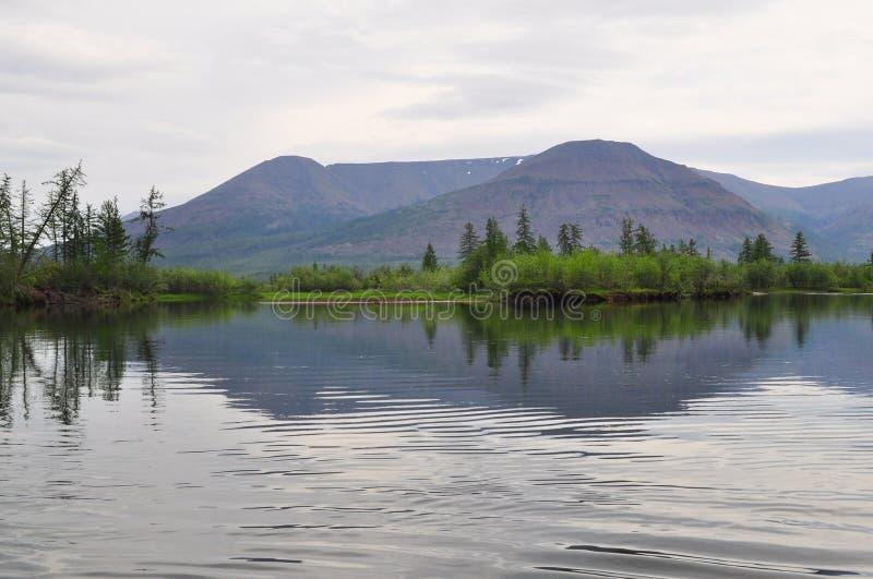 River Muksun, the Putorana plateau. royalty free stock photography