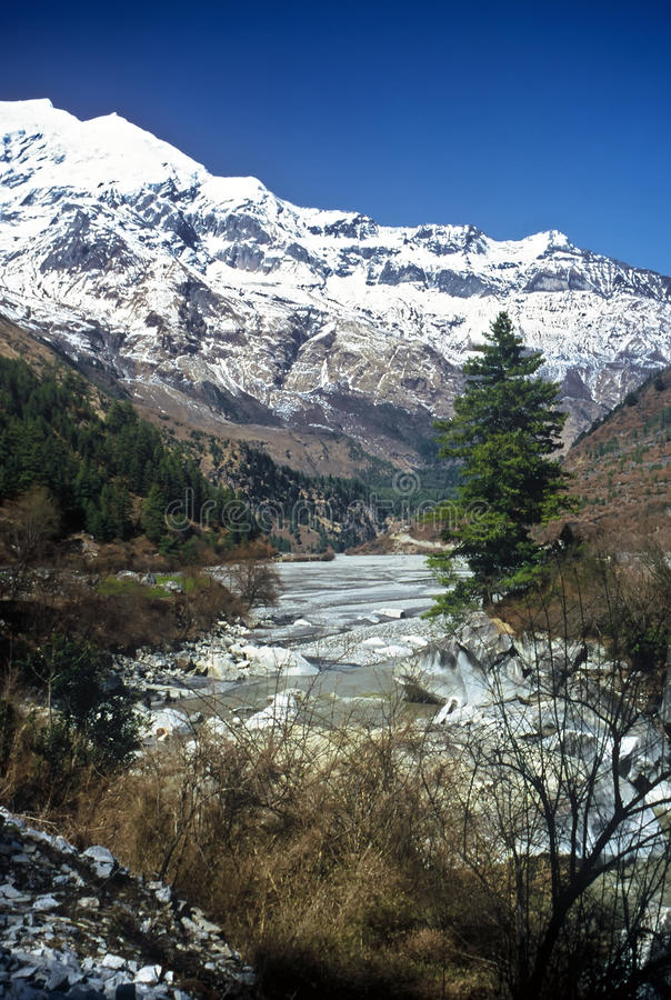 River, Nepal royalty free stock photo