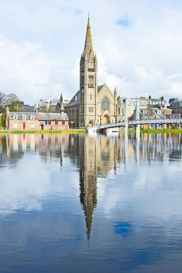 Download River Ness at high tide stock photo. Image of salmon - 24346584