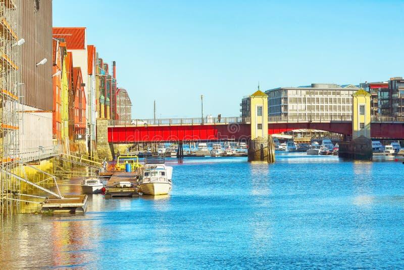 Bridge Bakke Bru, Trondheim stock photo