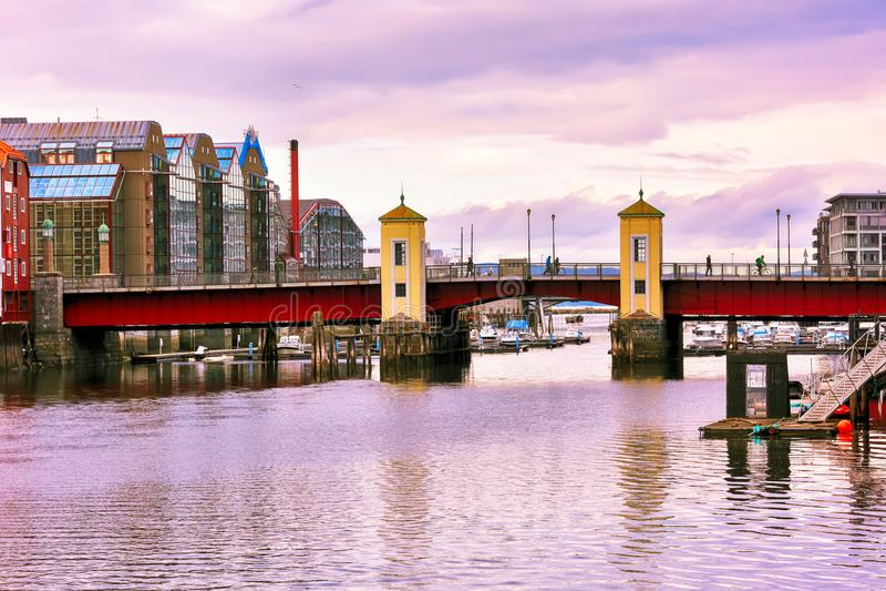 Bridge Bakke bru, Trondheim royalty free stock images