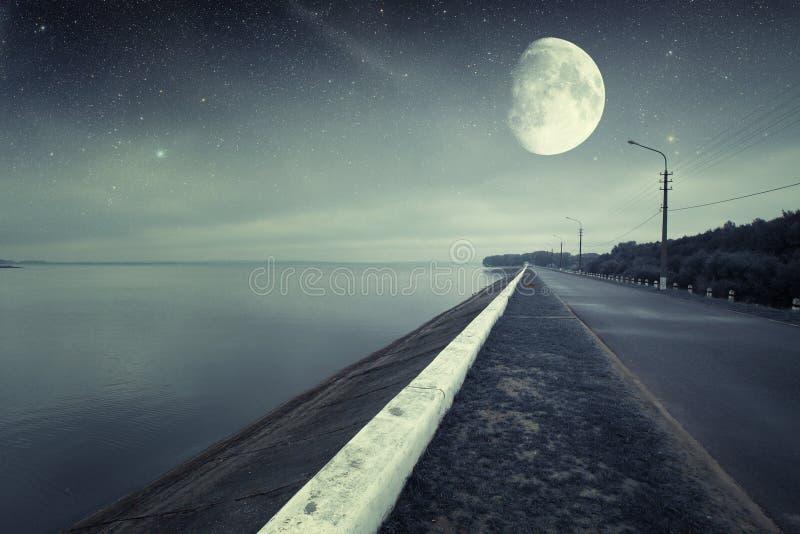 River at night. royalty free stock photography
