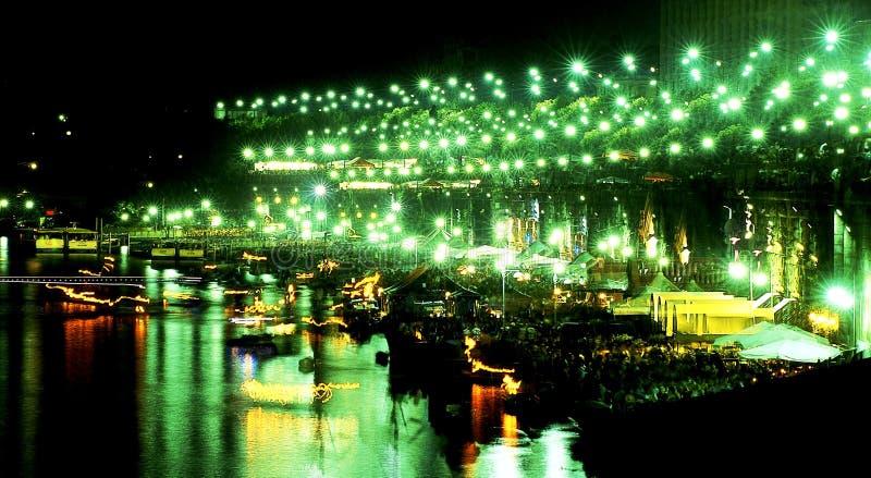 River night life. River Po night life in Turin, Italy stock photos