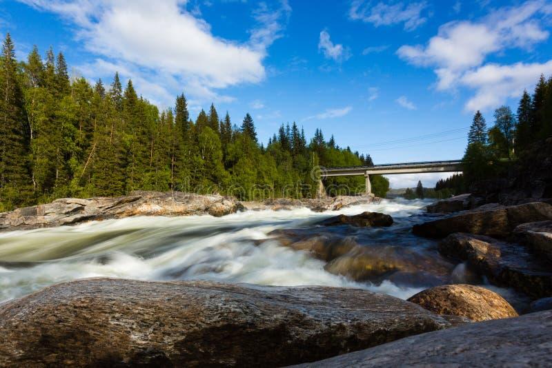 Download River in Norway stock photo. Image of bridge, bally, crag - 26904554