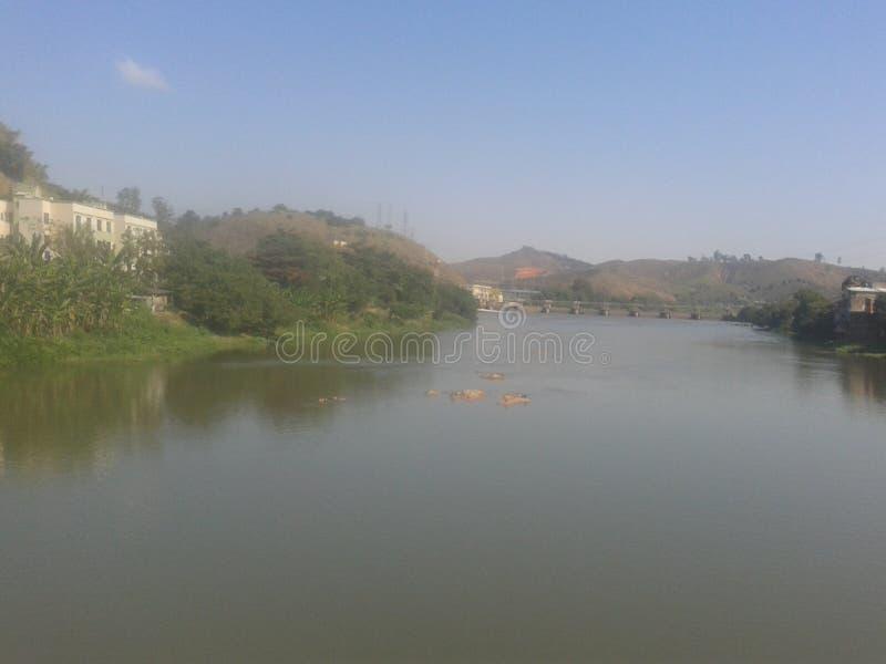 River ParaÃba do Sul en hydro-elektrische dam van Santa Cecilia stock afbeeldingen