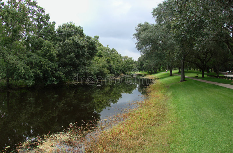 Download River through park stock image. Image of trees, summer - 2870485