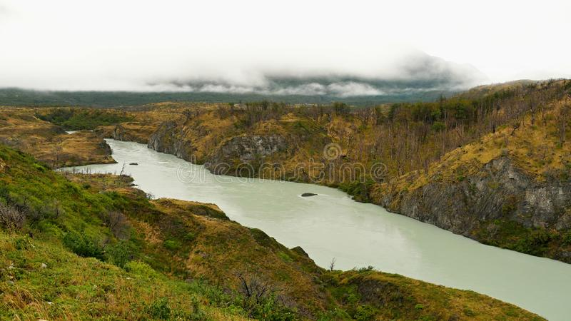 River in Patagonia. Argentina. America, water, cloud, ski, valley stock photos