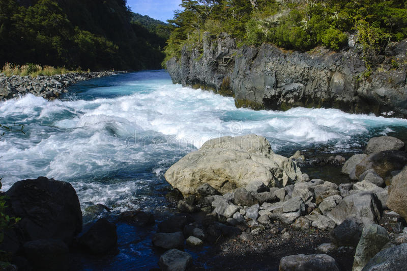 Download River petrohue, chile stock photo. Image of fast, river - 32601490
