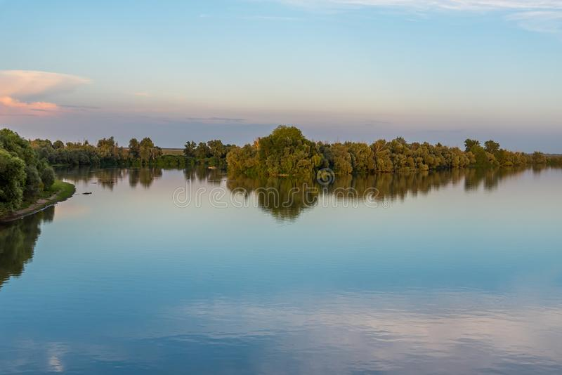 River Po Fiume Po in east coastline of Italy royalty free stock photo