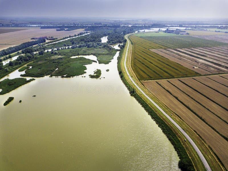 River Po Veneto Italy royalty free stock photo