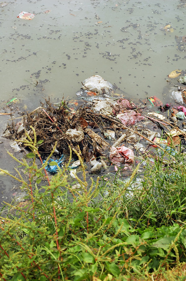 Free River Pollution Royalty Free Stock Photography - 8120747