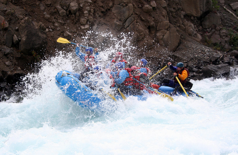 River Rafting stock photography