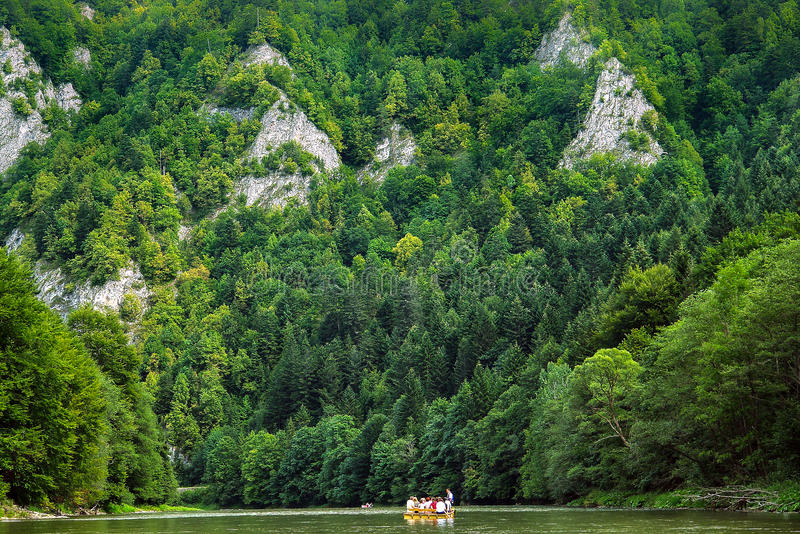 River rafting. Rafting on Dunajec river, Poland. Europe royalty free stock photos