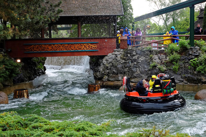 River rapid family fun wet ride royalty free stock photo