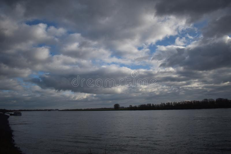 River Rhine in Germany. The river Rhine in Germany royalty free stock photo