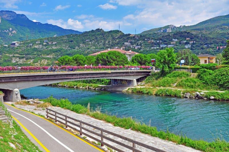 River In Riva Del Garda Stock Photo