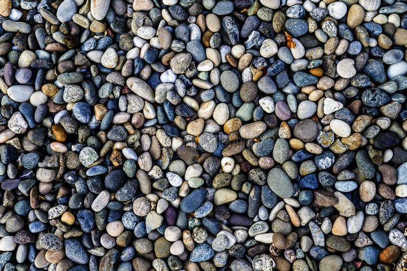 River Rock. A photo of colorful river rock stock photo