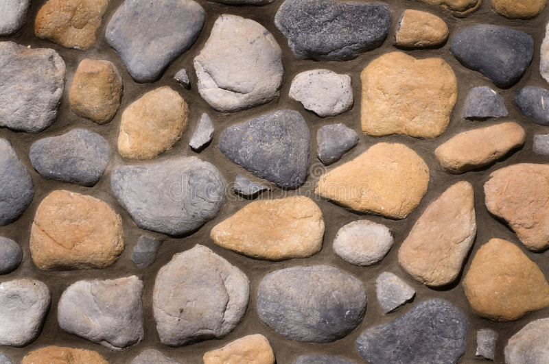 River Rock Wall Background Texture Royalty Free Stock Image
