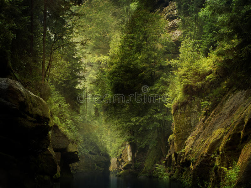 Download River through the rocks stock image. Image of peaceful - 26081253