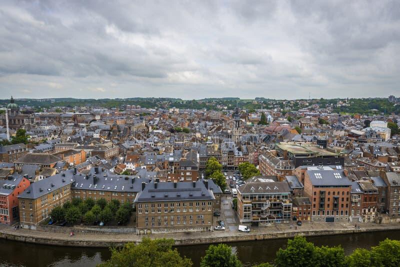 River Sambre through Namur, Belgium stock images