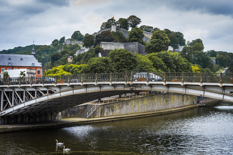 River Sambre through Namur, Belgium royalty free stock photo