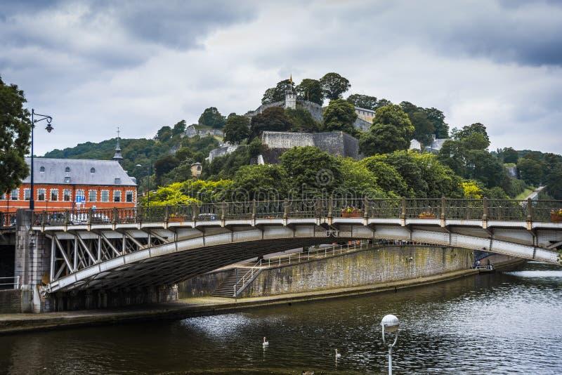 River Sambre through Namur, Belgium royalty free stock photos
