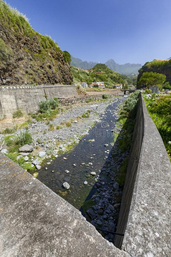 River in Sao Vicente royalty free stock image