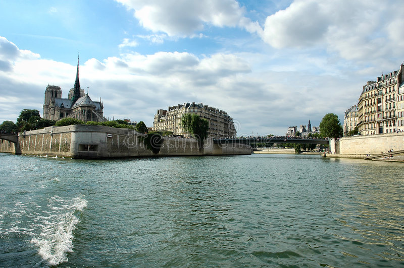 Download River Seine stock image. Image of water, famous, cathedral - 195293