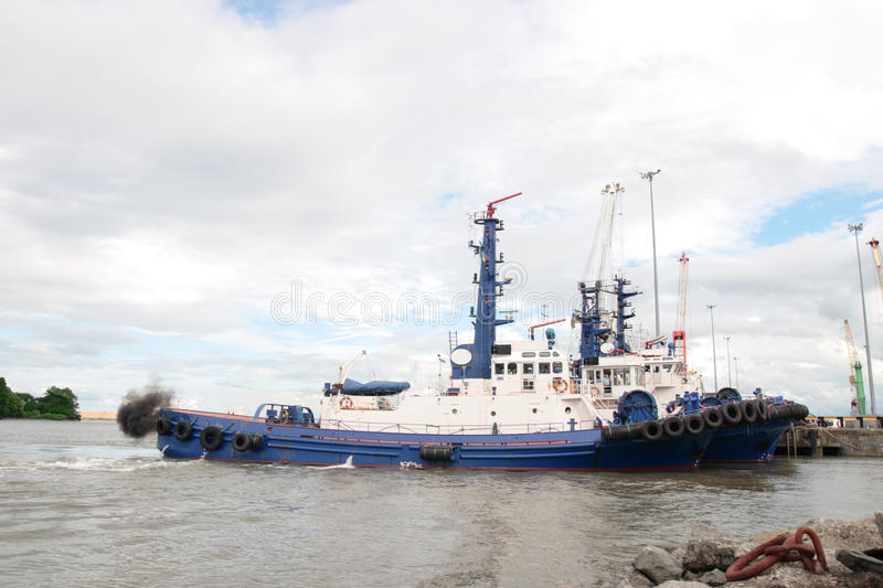 Download River shannon tug boats stock image. Image of blue, freight - 21144179