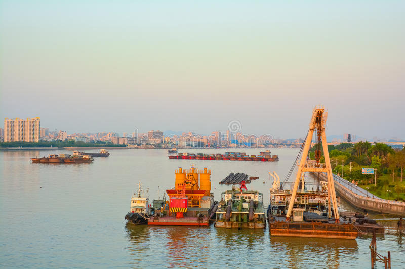 River shipping depression stock photos