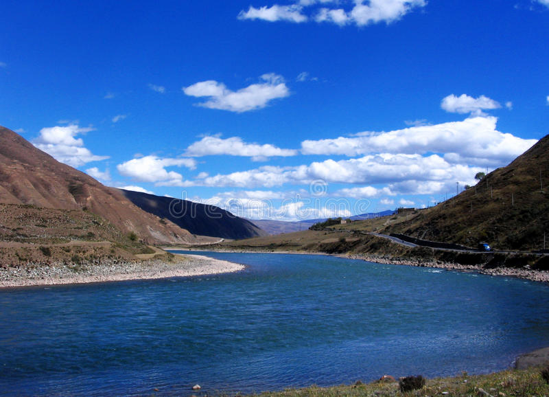 River in Sichuan-Tibet Plateau royalty free stock photo