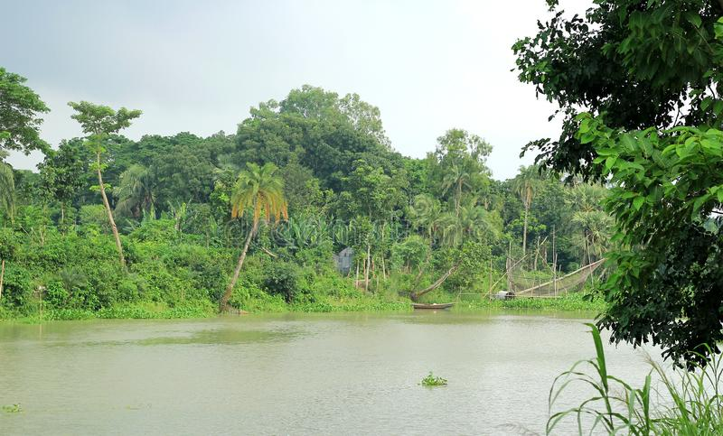 River side. Of Bangladesh`s village stock photography