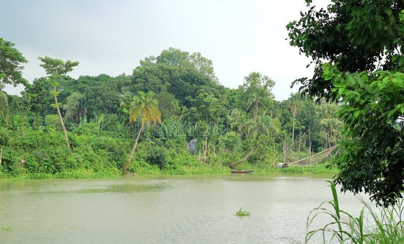 River side. Of Bangladesh`s village stock photos