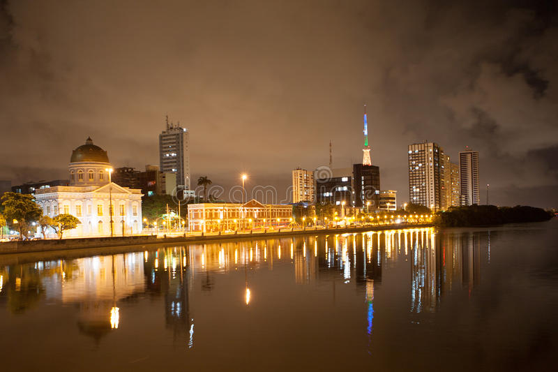 Download River Side Of Recife By Night Royalty Free Stock Photography - Image: 37665427