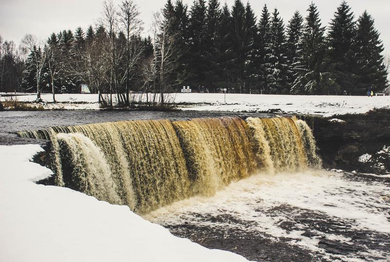 River With Snow royalty free stock photos
