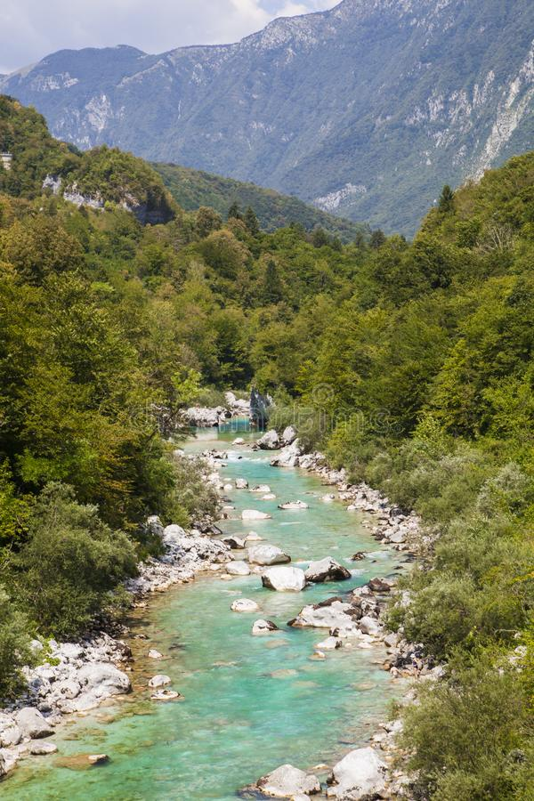 River Soča royalty free stock photography