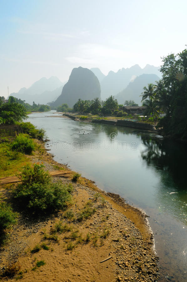 Download River Song In Vang Vieng, Laos. Stock Photo - Image: 29823362