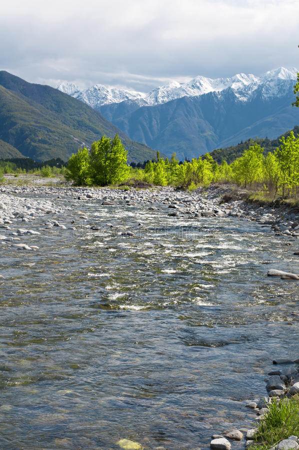 Download River in spring season stock image. Image of ossola, calm - 24538507