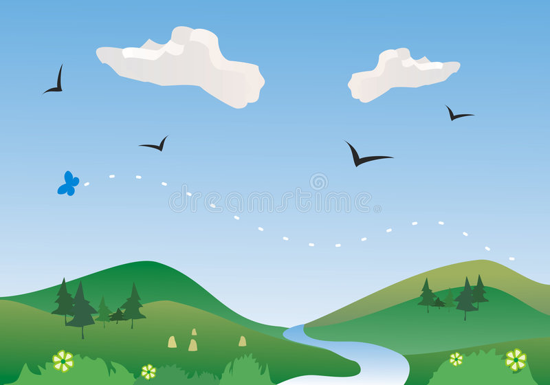 Download River In Springtime, Vector Royalty Free Stock Photos - Image: 2305888