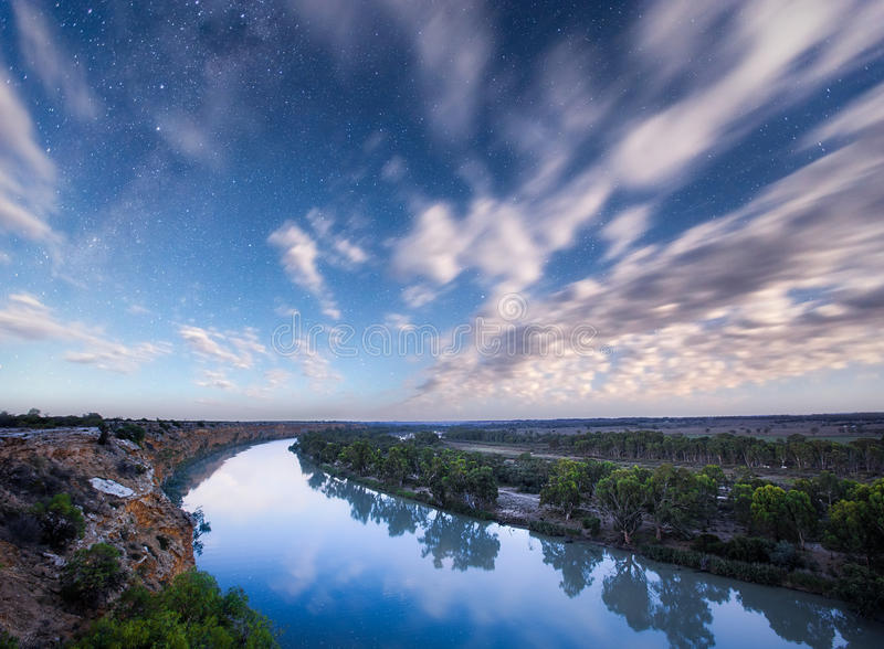 River Stars royalty free stock photography