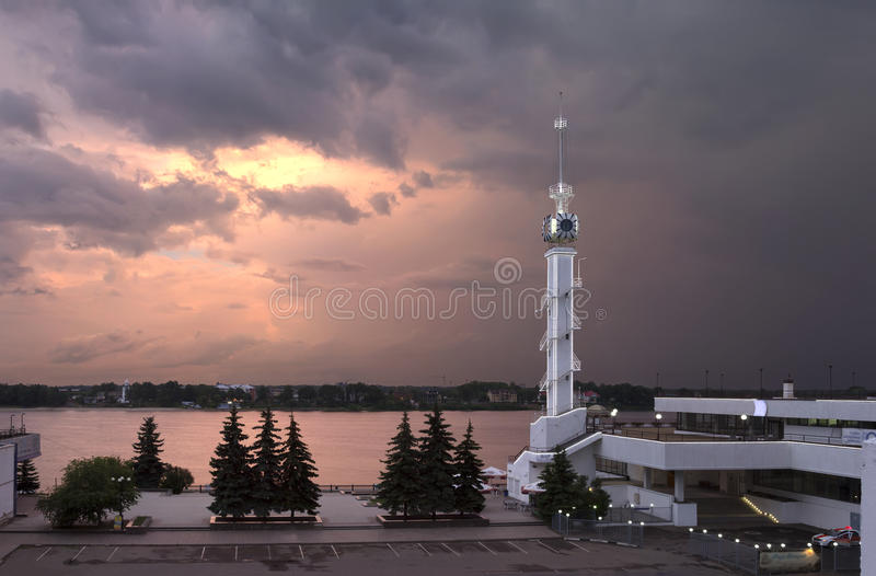 River Station. Yaroslavl, Russia. royalty free stock images
