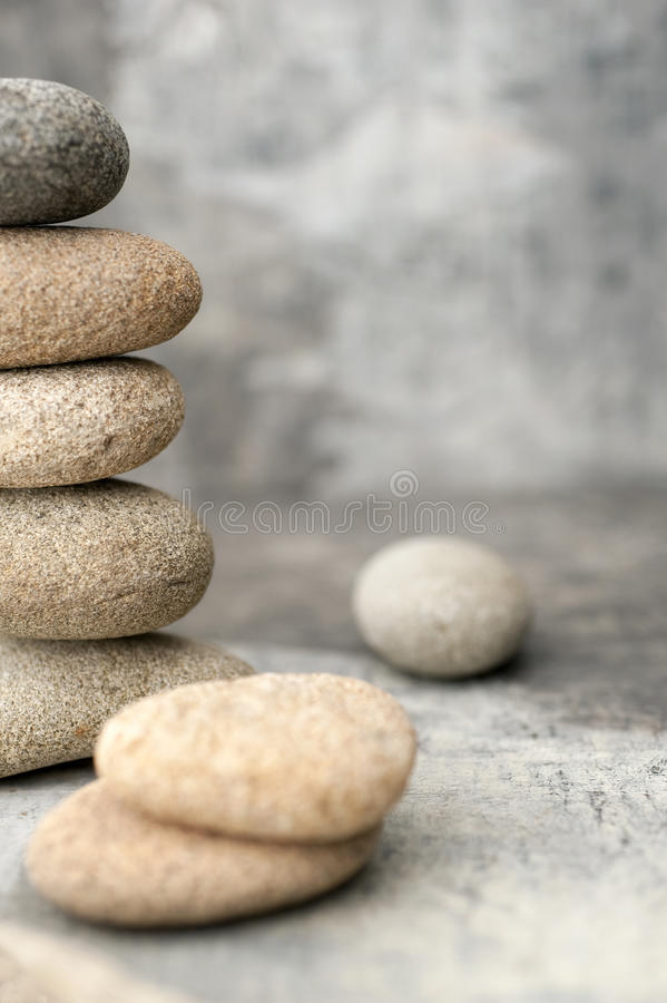 River Stone Tower Meditation  stock photography