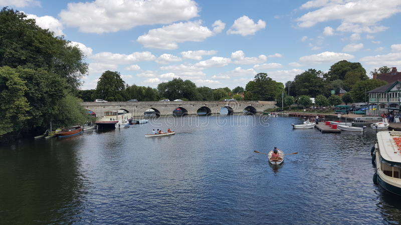 River Stratford upon Avon Shakespeare royalty free stock photos