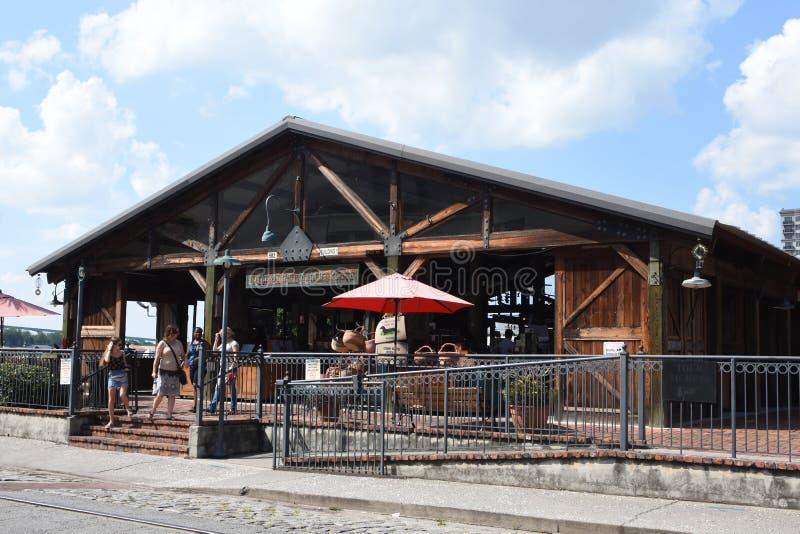 River Street Market Place, Savannah, GA stock photography