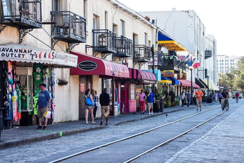 River Street, Savannah, GA. royalty free stock images