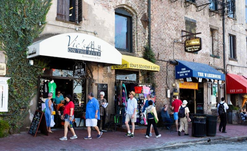 River Street, Savannah, Georgia royalty free stock image