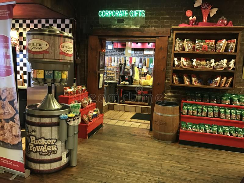 River Street Sweets Candy Store, Savannah, GA royalty free stock photos