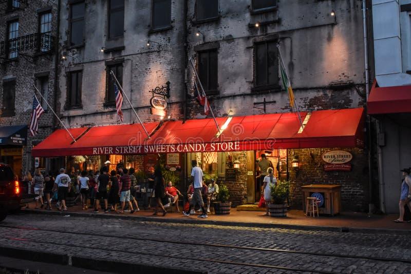 River Street Sweets, Savannah, GA. stock photos