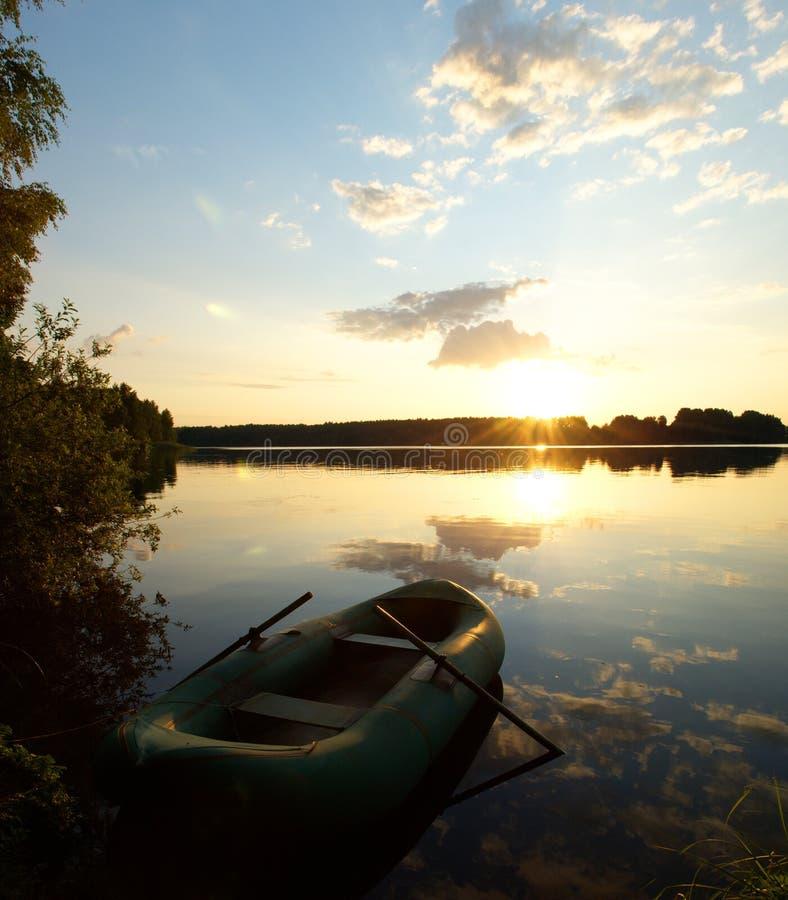 Download River at sunrise stock photo. Image of orange, lake, beam - 10249720